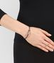 BOTTEGA VENETA BRACELET IN GLICINE SILVER AND BAROLO ENAMEL WITH INTRECCIATO DETAIL Bracelet Woman ap