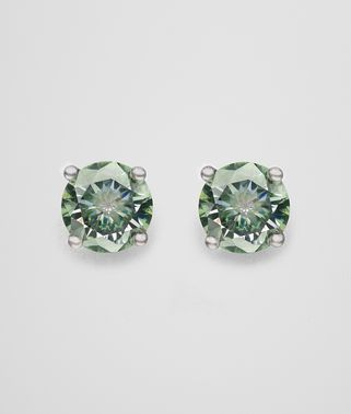 EARRINGS IN SILVER AND NATURALE MOSS CUBIC ZIRCONIA