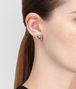 BOTTEGA VENETA EARRINGS IN SILVER AND NATURALE MOSS CUBIC ZIRCONIA Earrings Woman ap