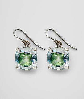EARRINGS IN STERLING SILVER AND NATURALE MOSS NEW CUBIC ZIRCONIA