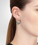 BOTTEGA VENETA EARRINGS IN SILVER AND NATURALE MOSS CUBIC ZIRCONIA Earrings D ap