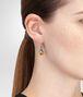 BOTTEGA VENETA EARRINGS IN SILVER AND YELLOW GOLD, INTRECCIATO DETAIL Earrings Woman ap