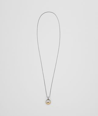 PENDANT IN STERLING SILVER AND YELLOW GOLD , INTRECCIATO DETAIL