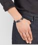 BOTTEGA VENETA BRACELET IN DENIM INTRECCIATO NAPPA AND SILVER Bracelet Man ap