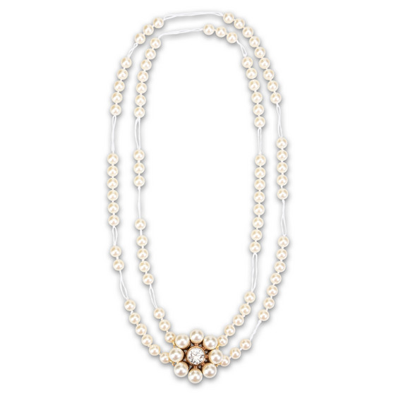 Collana Cream Rose con Perla