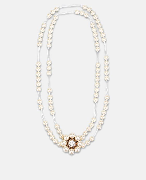 Cream Rose Pearl Necklace