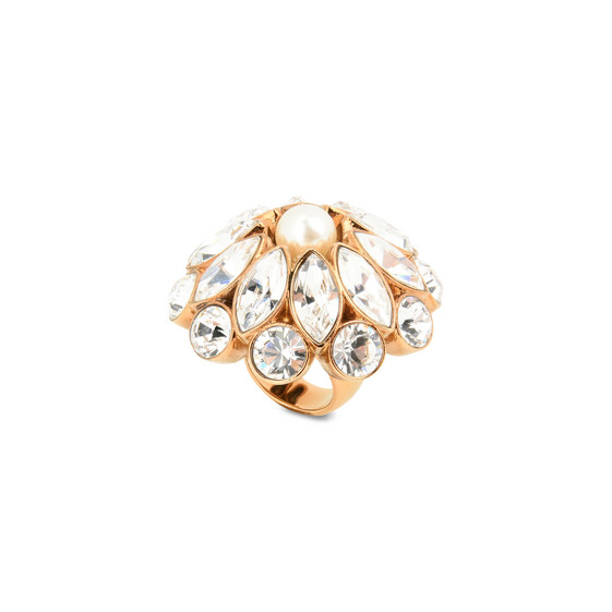 Anello Cream Rose con Perla