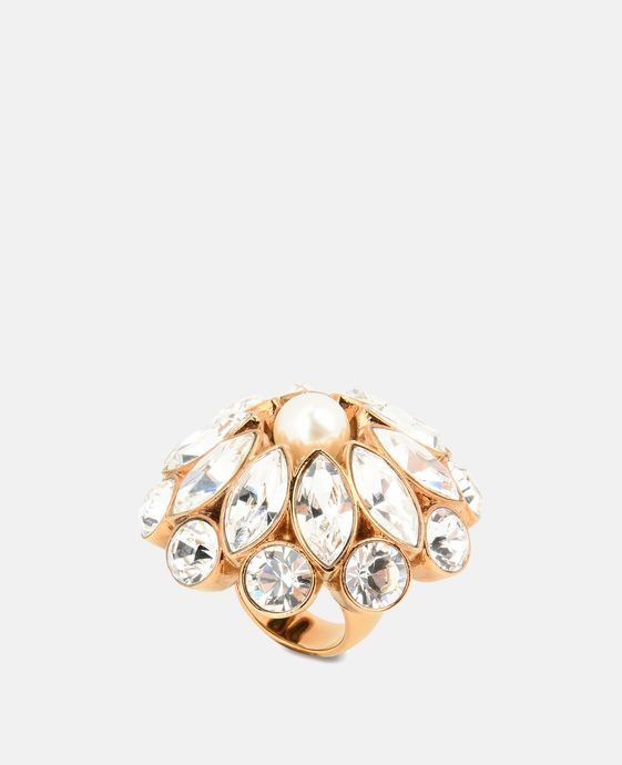 Cream Rose Pearl Ring