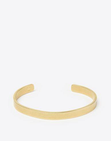 MAISON MARGIELA 11 Bracelet U Gold plated logo bracelet f