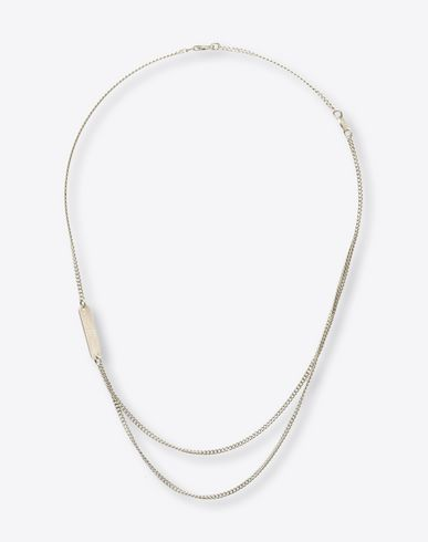 MAISON MARGIELA Necklace U Silver tag necklace f