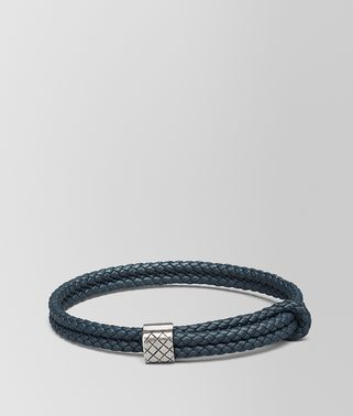 BRACELET IN DENIM INTRECCIATO NAPPA AND SILVER
