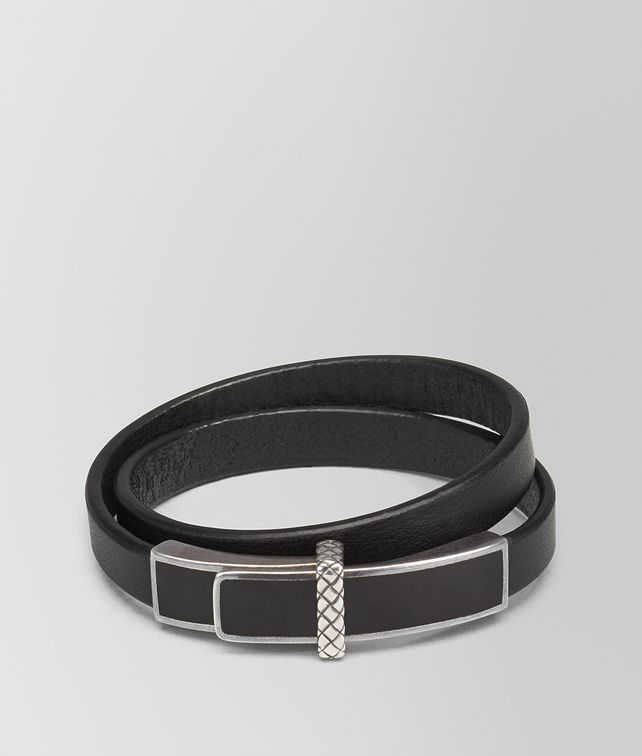 BOTTEGA VENETA BRACELET IN NERO MULTIMATERIAL, INTRECCIATO DETAIL Bracelet D fp