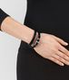 BOTTEGA VENETA BRACELET IN NERO MULTIMATERIAL, INTRECCIATO DETAIL Bracelet D ap