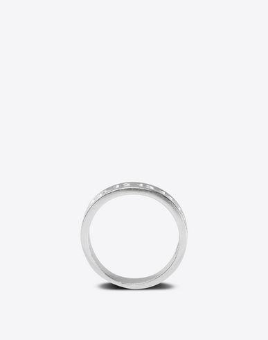 MAISON MARGIELA Ring Man Silver logo ring f