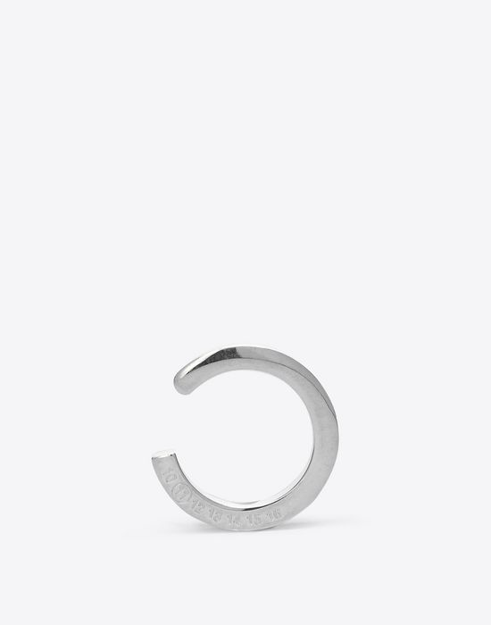 MAISON MARGIELA Engraved silver ring Ring D f