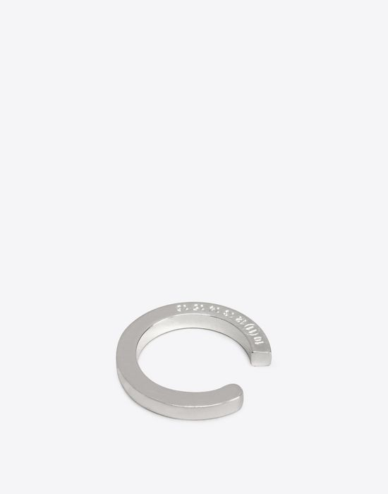 MAISON MARGIELA Engraved silver ring Ring D r