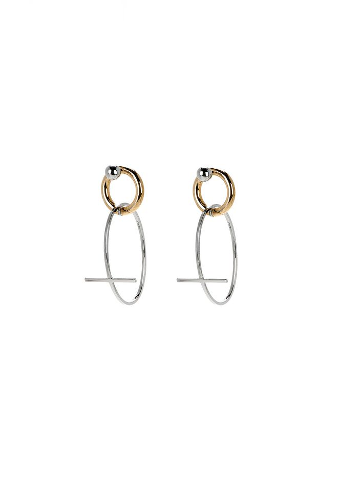 ALEXANDER WANG jewelry CROSS EARRINGS
