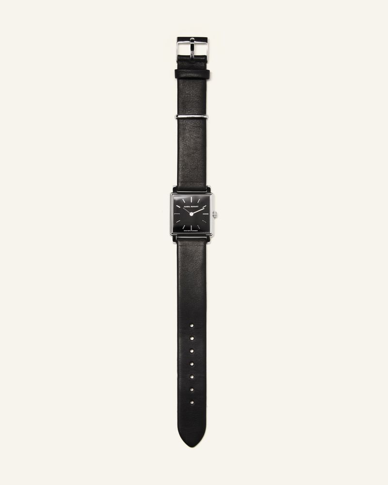 Steel and leather watch ISABEL MARANT