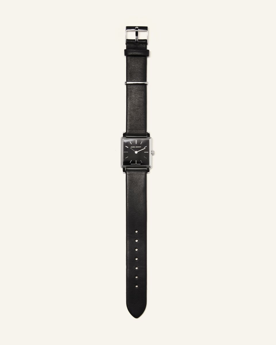Isabel Marant - Steel and leather watch - 1