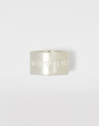 MAISON MARGIELA Ring Man Silver logo cuff ring f