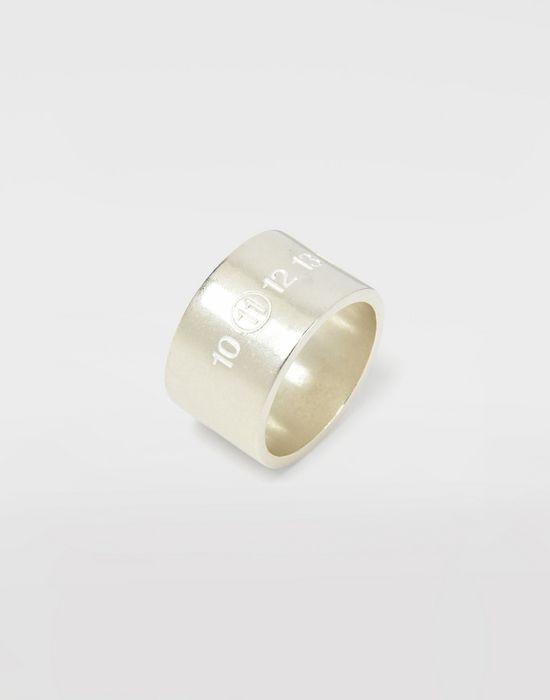 MAISON MARGIELA Silver logo cuff ring Ring Man d