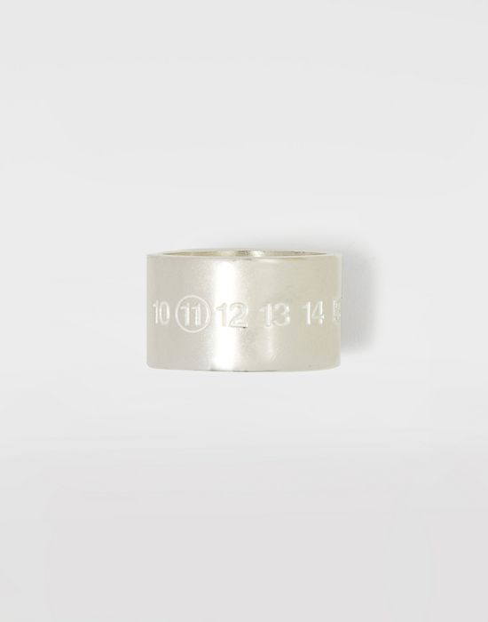 MAISON MARGIELA Silver logo cuff ring Ring Man f