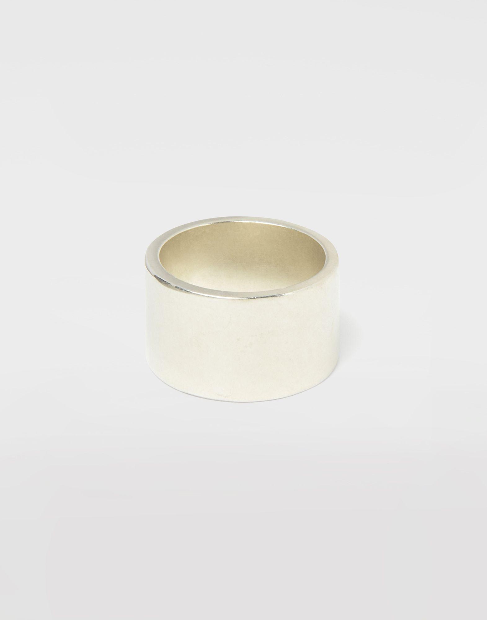 MAISON MARGIELA Silver logo cuff ring Ring Man a