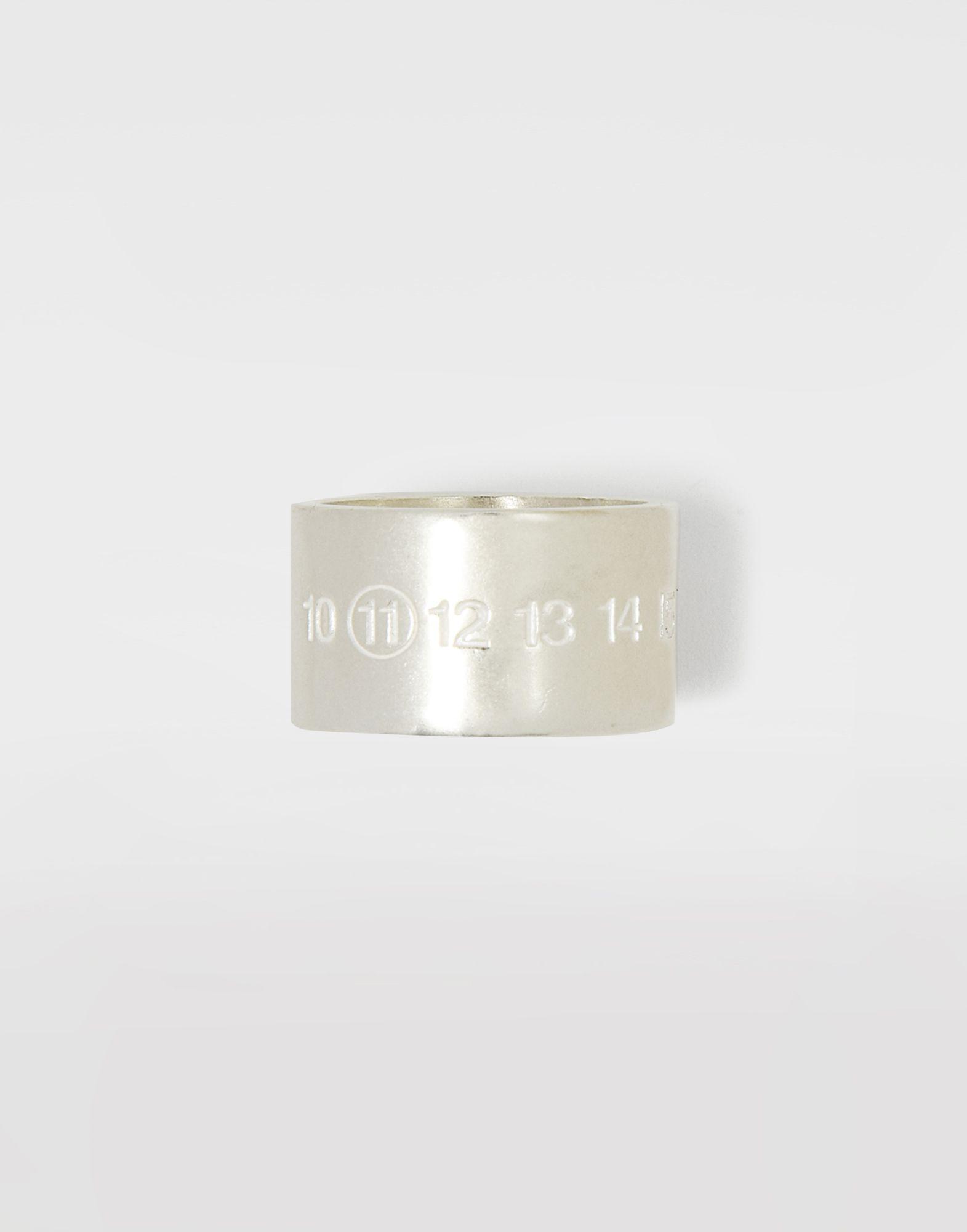 MAISON MARGIELA Manschettenring mit Logo, Silber Ring Herr f