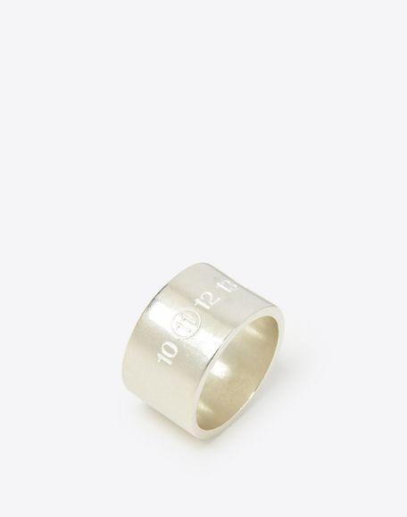 MAISON MARGIELA Silver logo cuff ring Ring Man r