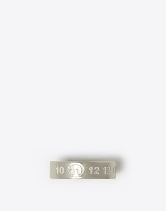 MAISON MARGIELA Thin silver logo ring Ring [*** pickupInStoreShippingNotGuaranteed_info ***] f