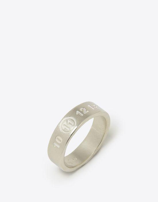 MAISON MARGIELA Thin silver logo ring Ring [*** pickupInStoreShippingNotGuaranteed_info ***] r