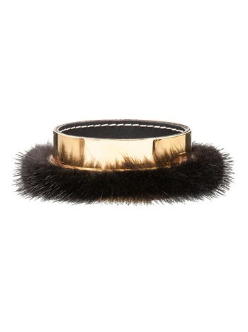 Marni Mink and metal bangle Woman
