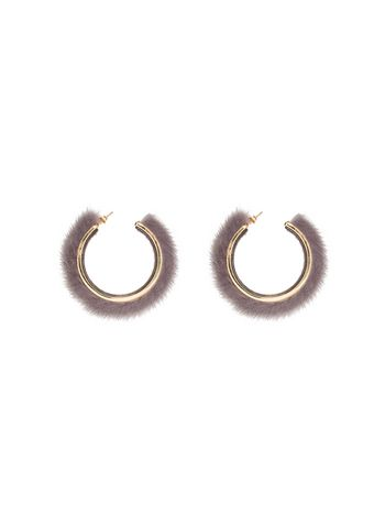 Marni Earrings in mink and metal Woman