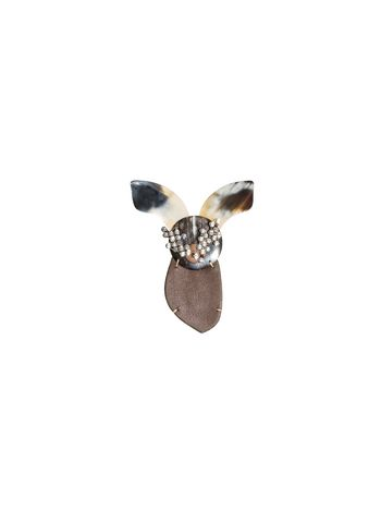 Marni Brooch in calfskin Woman