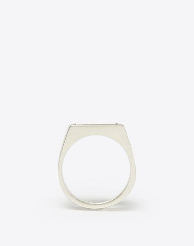 MAISON MARGIELA Ring U Square silver signet ring f