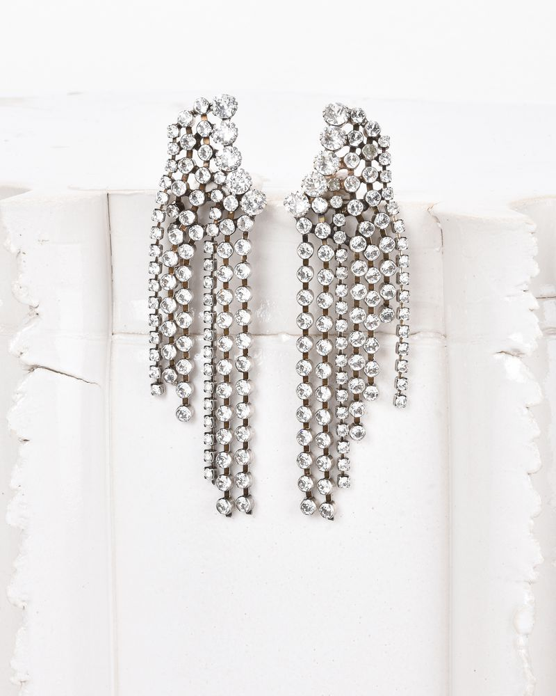 A WILD SHORE earrings adorned with crystals ISABEL MARANT