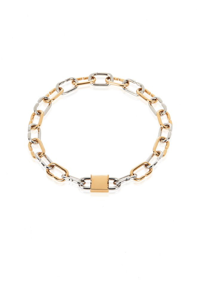 ALEXANDER WANG jewelry BROKEN LINK DOUBLE LOCK NECKLACE