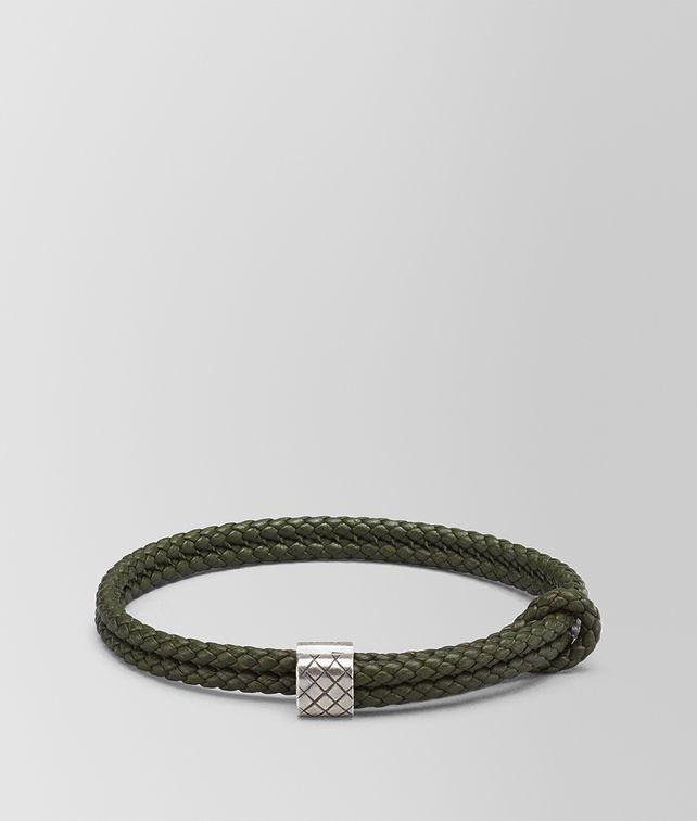 BOTTEGA VENETA MOSS INTRECCIATO NAPPA BRACELET Bracelet Man fp