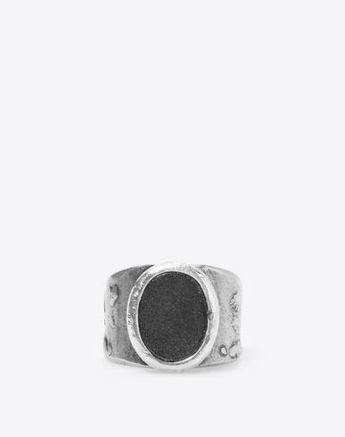 MAISON MARGIELA Ring U Engraved silver signet ring f
