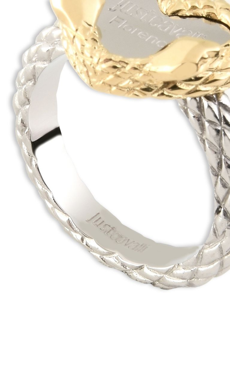 "JUST CAVALLI ""Just Love"" LOGO theme ring Ring Woman d"