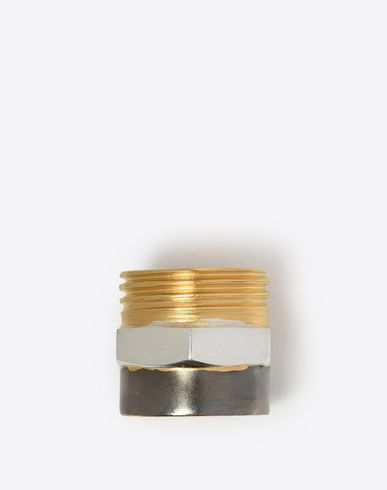 MAISON MARGIELA Ring D Three-tone industrial ring f