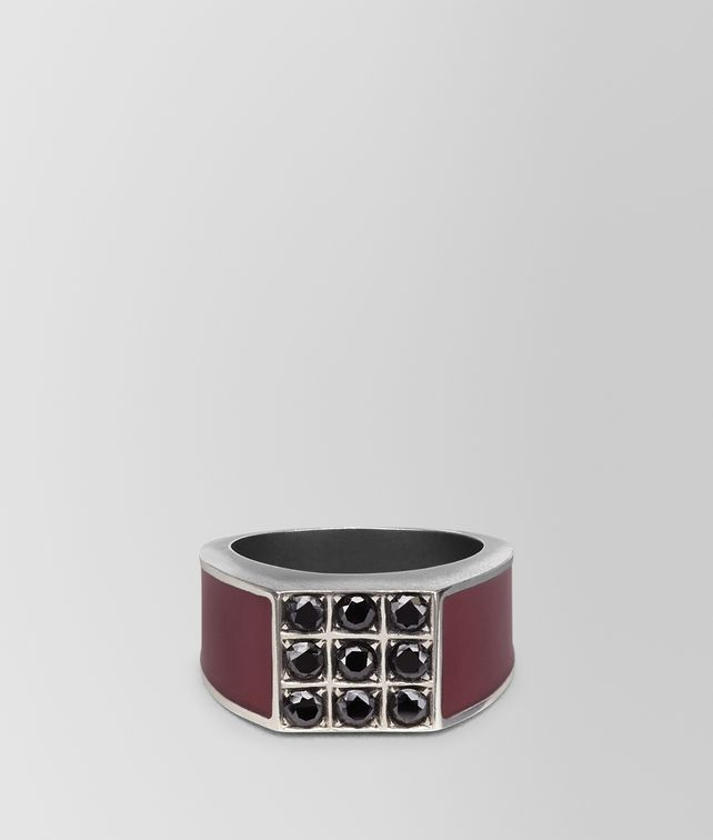BOTTEGA VENETA BAROLO ENAMELLED SILVER RING Ring [*** pickupInStoreShippingNotGuaranteed_info ***] fp