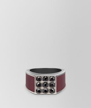BAROLO ENAMELLED SILVER RING