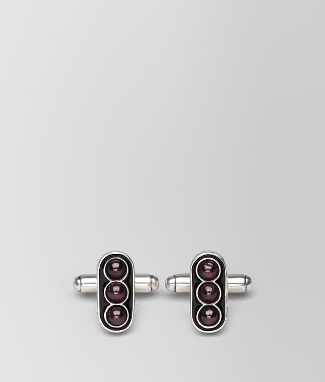 BOTTEGA VENETA NERO ENAMELLED SILVER CUFFLINK Other Jewellery Man fp