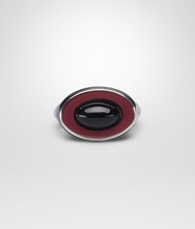 BOTTEGA VENETA BAROLO ENAMELLED SILVER RING Ring [*** pickupInStoreShippingNotGuaranteed_info ***] fp