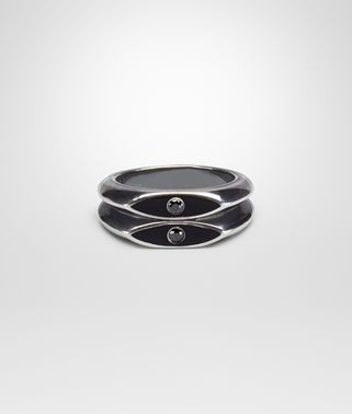 NERO ENAMELLED SILVER RING
