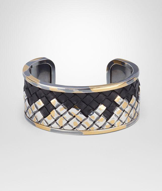 BOTTEGA VENETA INTRECCIATO SILVER BRACELET Bracelet Woman fp