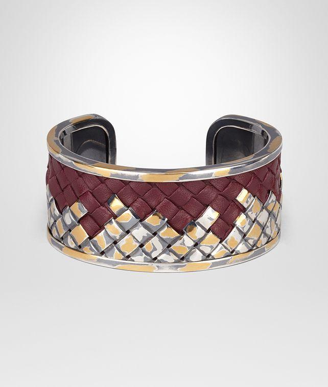 BOTTEGA VENETA INTRECCIATO SILVER BRACELET Bracelet D fp