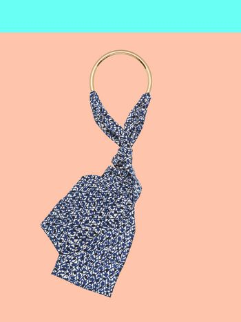 Marni Blue silk necklace Man