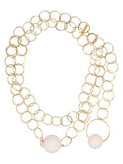 Marni Necklace with metal hoops Woman